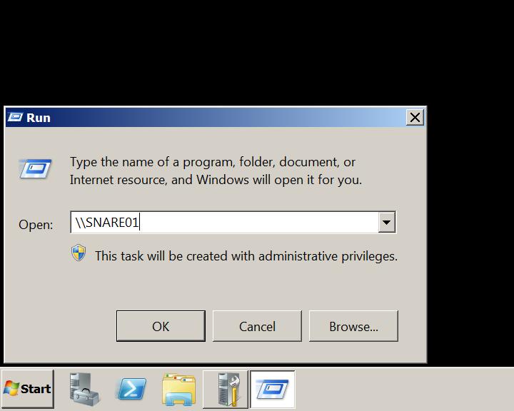 Client machine error SMB server name responder.py Windows 2008 R2