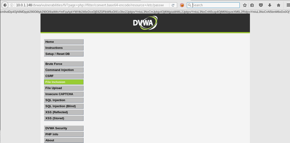 DVWA Example Outpute